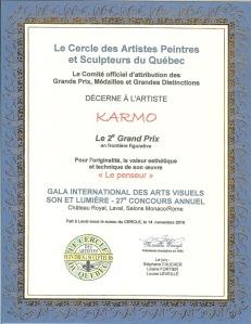 Le Penseur, 2ième Prix Limite figurative