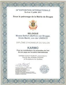 Belgique Diplôme rayonnement internationale