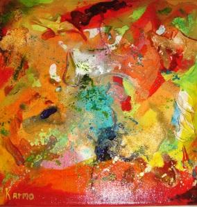 Jeux de couleurs avec gels et médiums