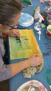Louise transfert et peinture